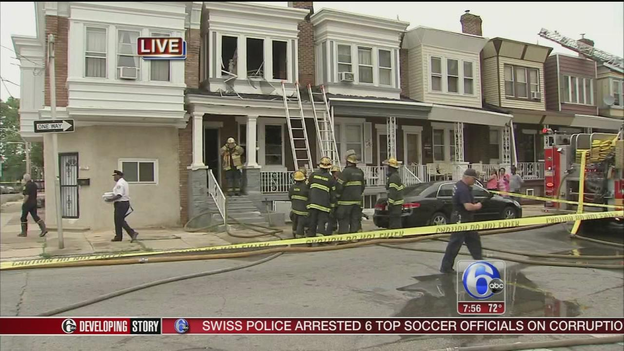 VIDEO: Woman dies in house blaze in Brewerytown