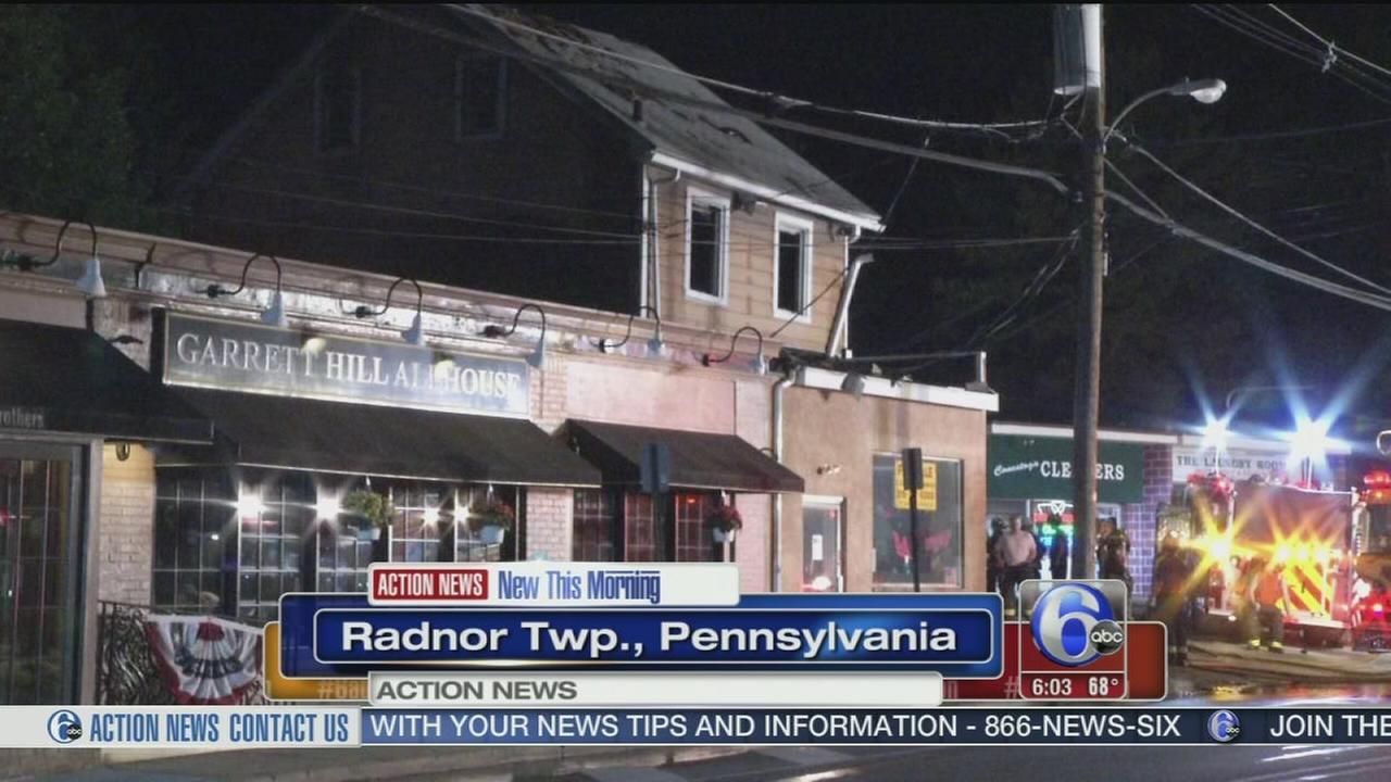 VIDEO: 1 hurt in fire in Radnor Twp.