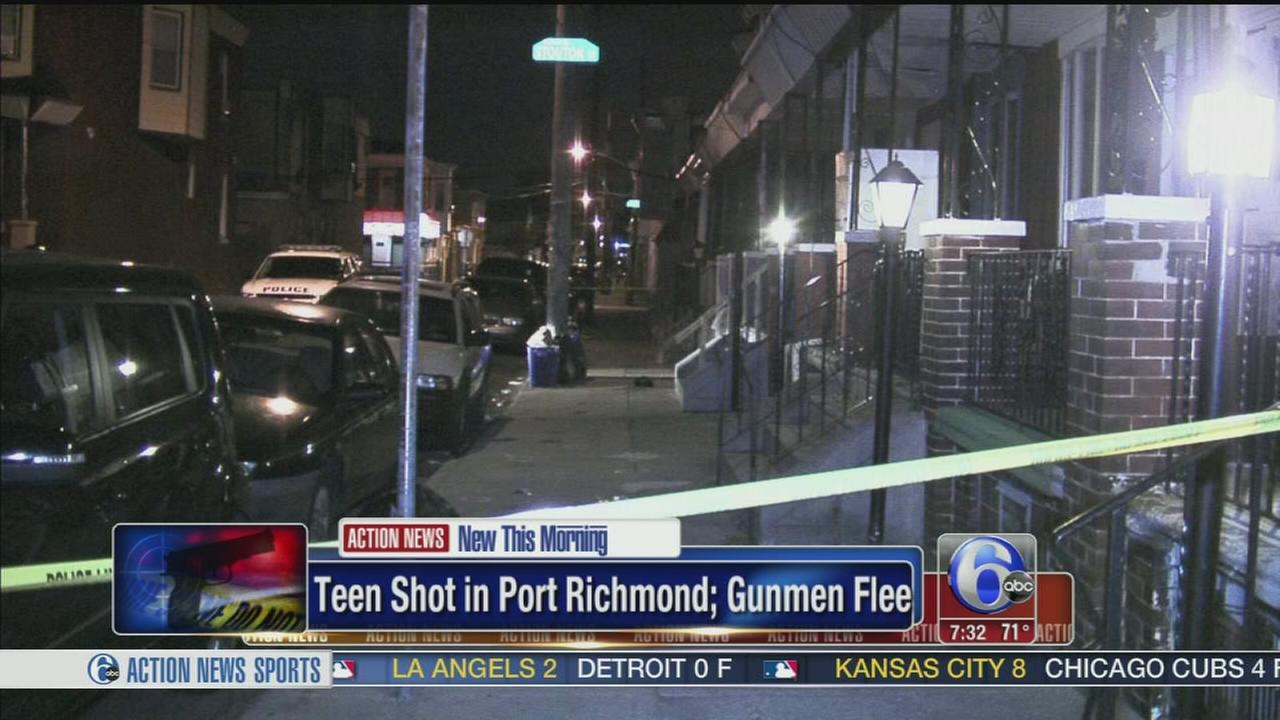 VIDEO: Teen girl struck by bullet in Port Richmond