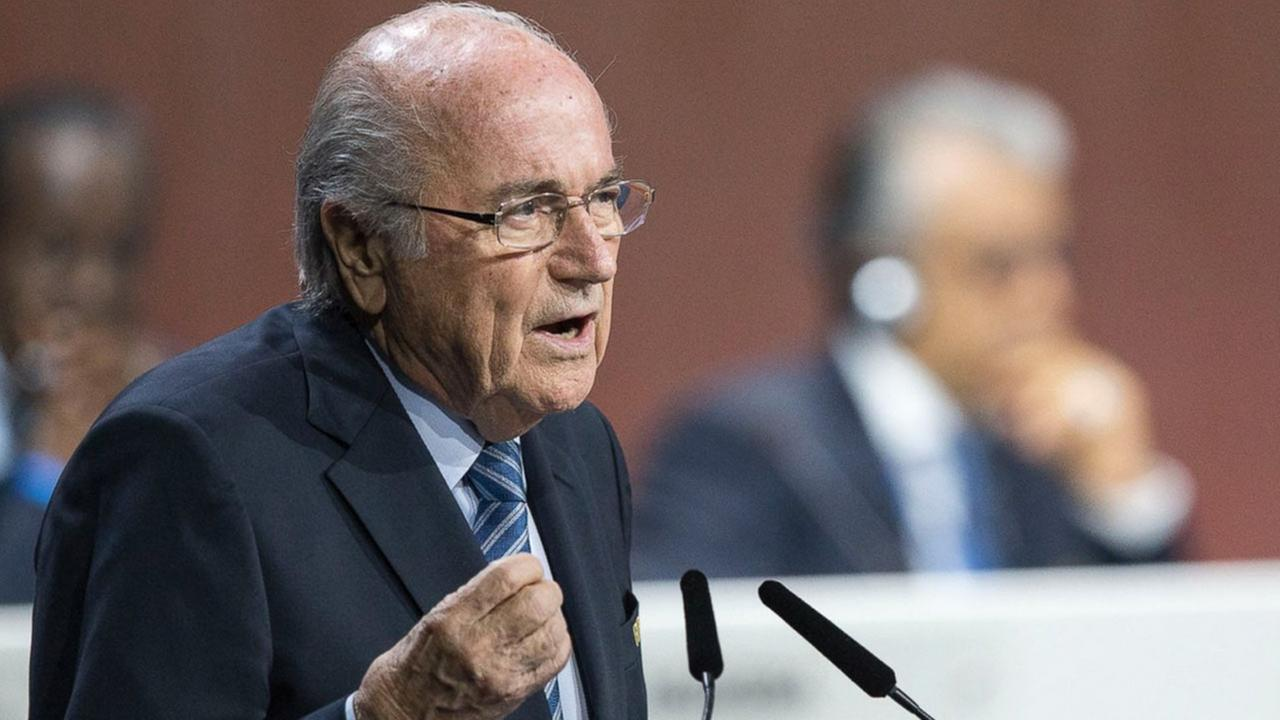 FIFA president Joseph S. Blatter speaks during the 65th FIFA Congress held at the Hallenstadion in Zurich, Switzerland, May 29, 2015, where he runs for re-election.