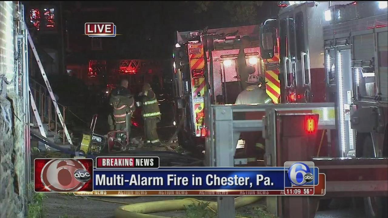 VIDEO: Multi-alarm Chester fire