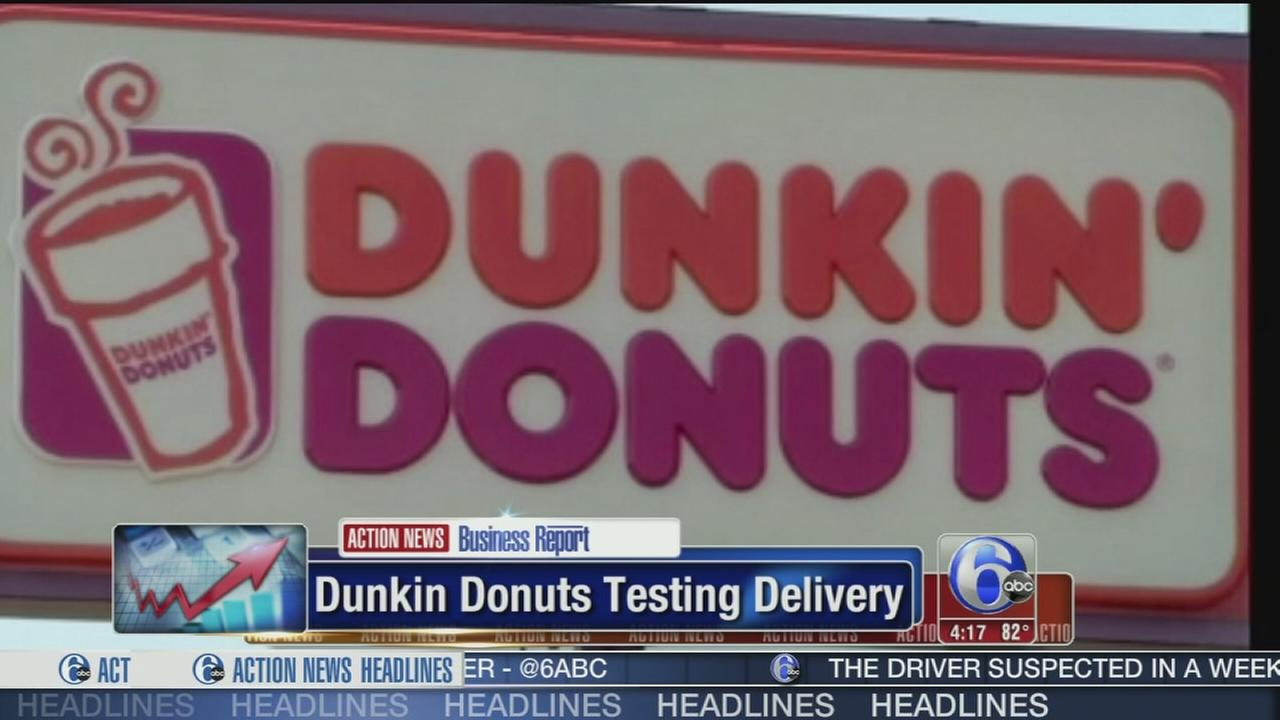 VIDEO: Dunkin Donuts testing delivery