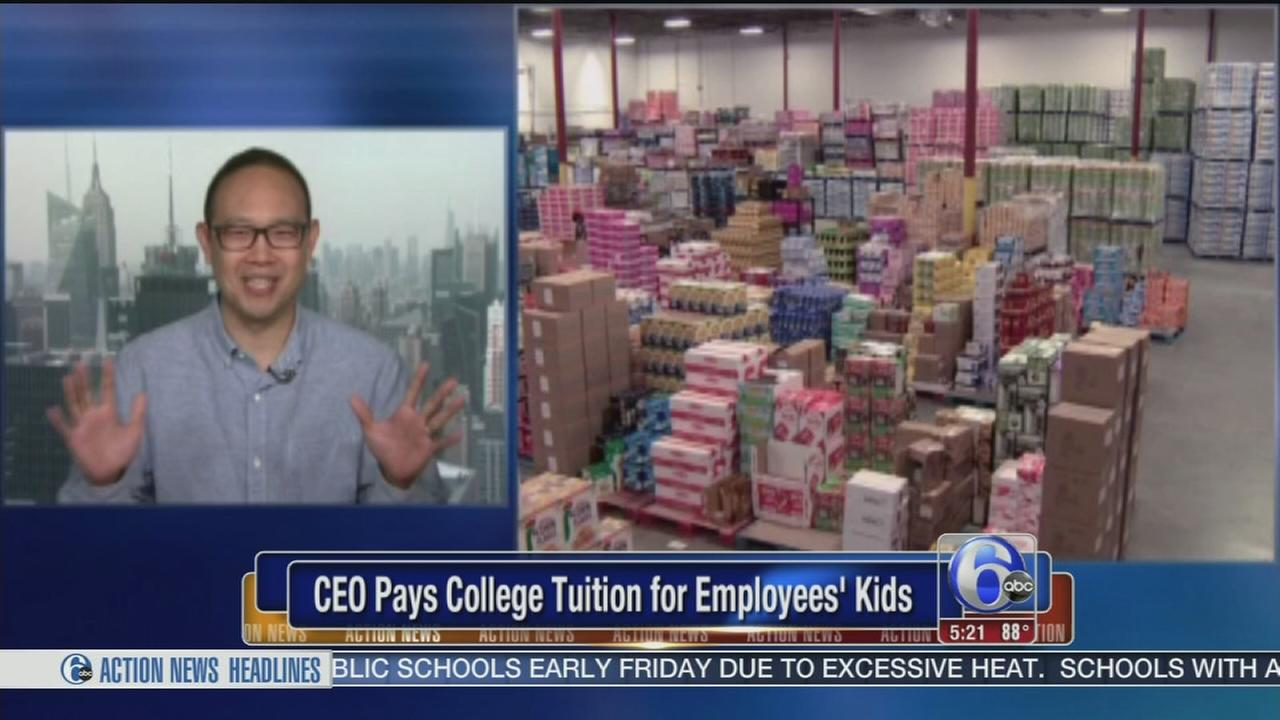 VIDEO: NJ CEO pays for college for workers? children