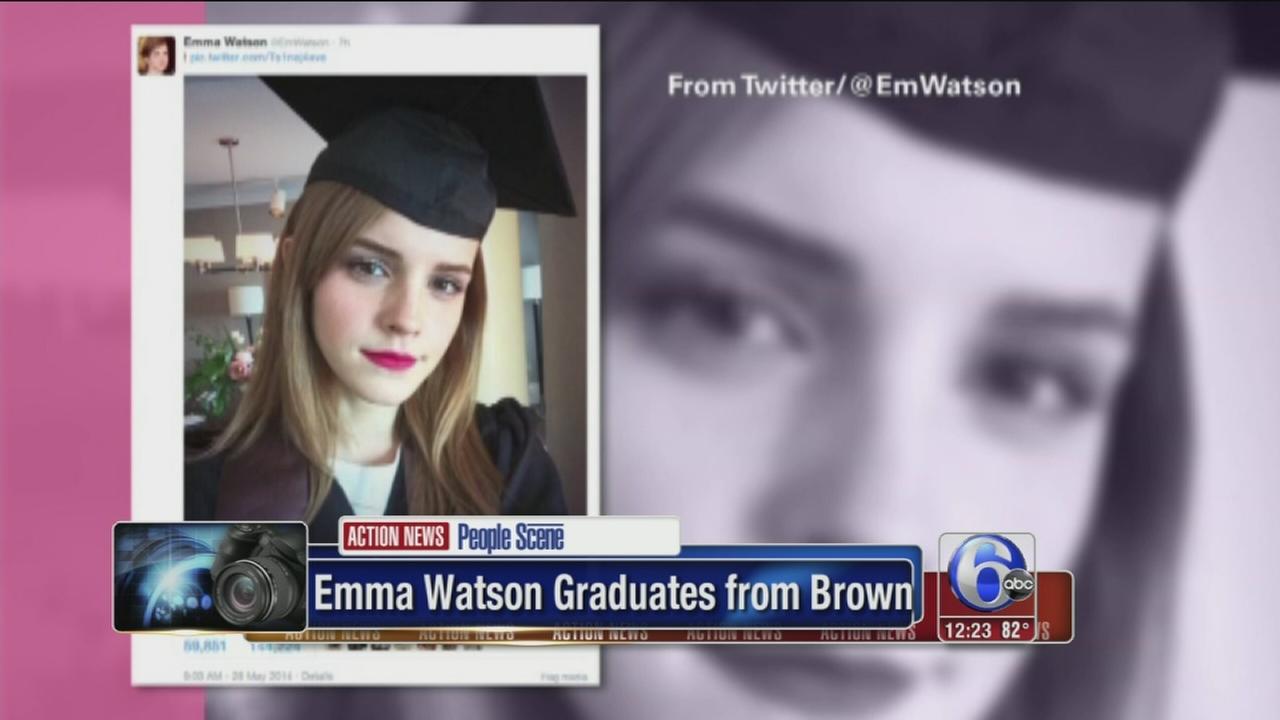 VIDEO: Actress Emma Watson graduates from Brown Univ.
