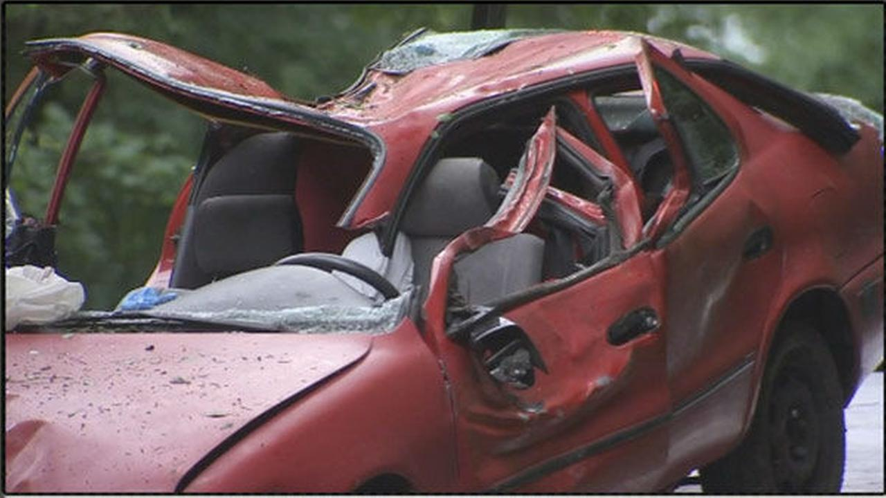 PHOTOS: Cars smashed by tree in New Hope