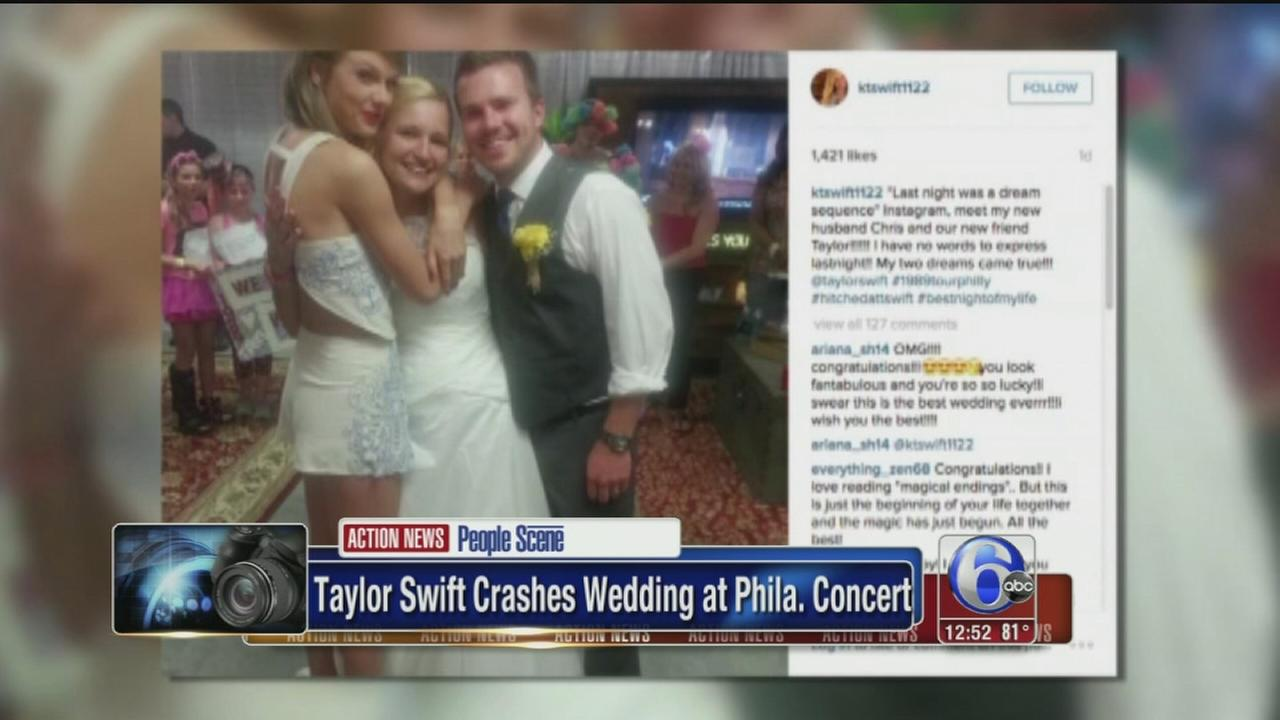 VIDEO: Taylor Swift crashed wedding after Philly concert