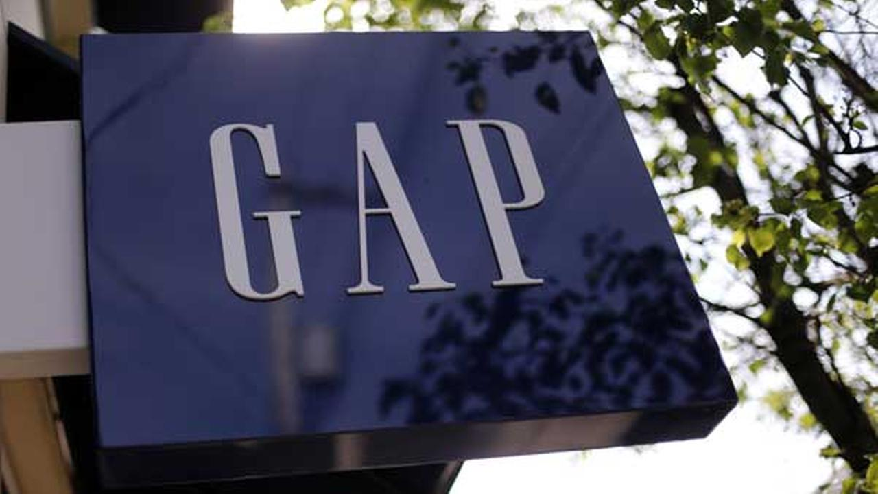 FILE - This May 14, 2014 file photo shows the sign on a GAP store in the Shadyside section of Pittsburgh