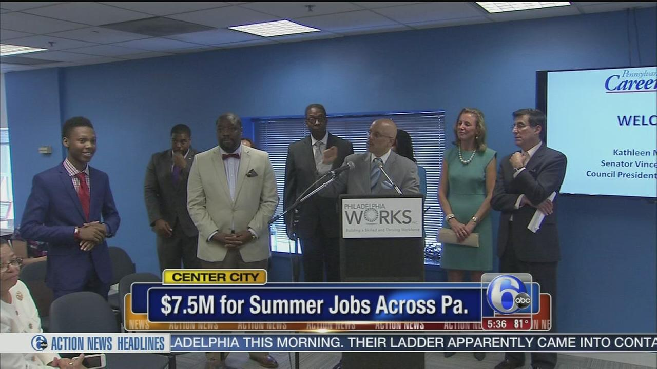 VIDEO: New funding means 3,700 summer jobs in Pa.