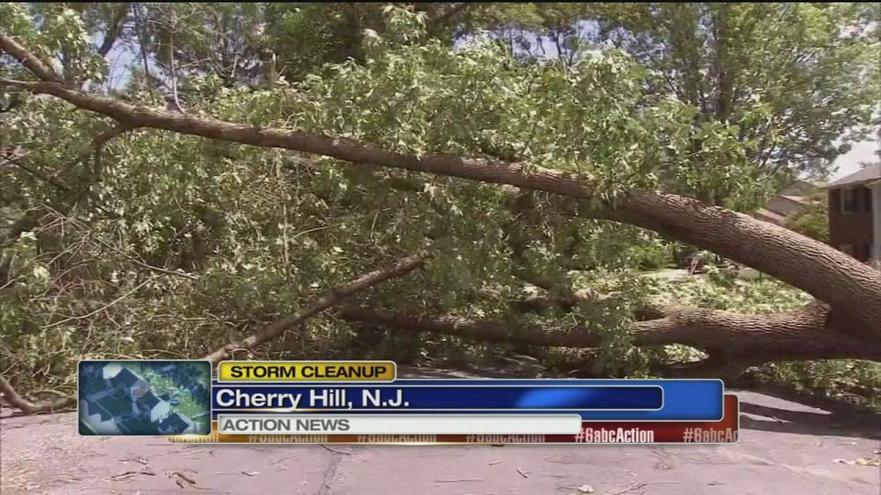 VIDEO: Storm cleanup begins in Cherry Hill