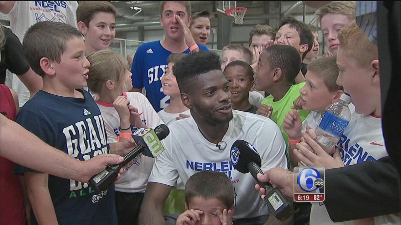 VIDEO: Nerlens Noel optimistic on 76ers draft pick, Embiids future