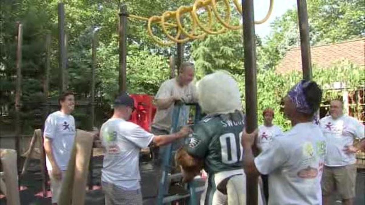 Volunteers Build New Playground In A Day In Camden