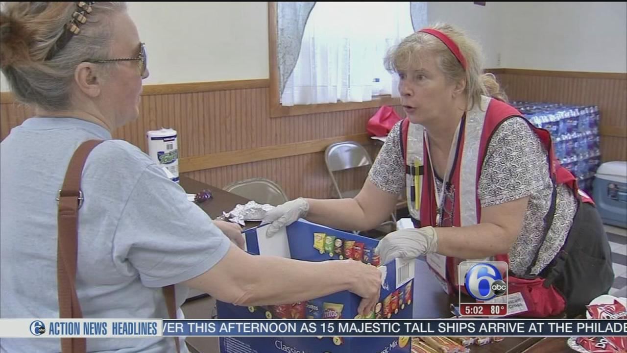 VIDEO: Red Cross opens emergency shelter