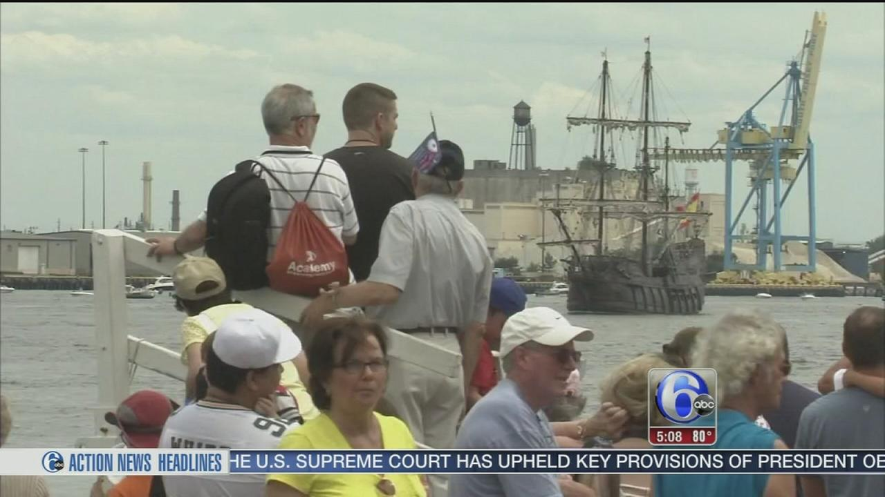 VIDEO: Fun on the river as tall ships set sail