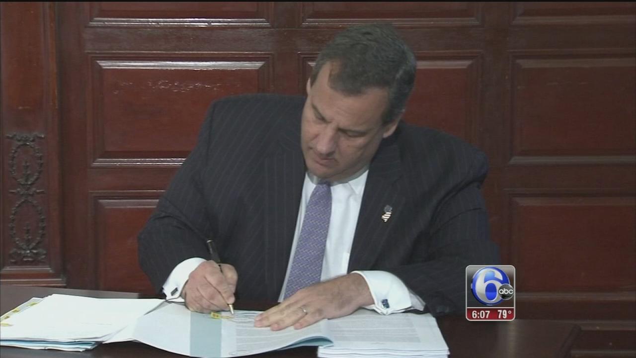 VIDEO: Gov. Christie slashes tax hikes, signs $34B budget