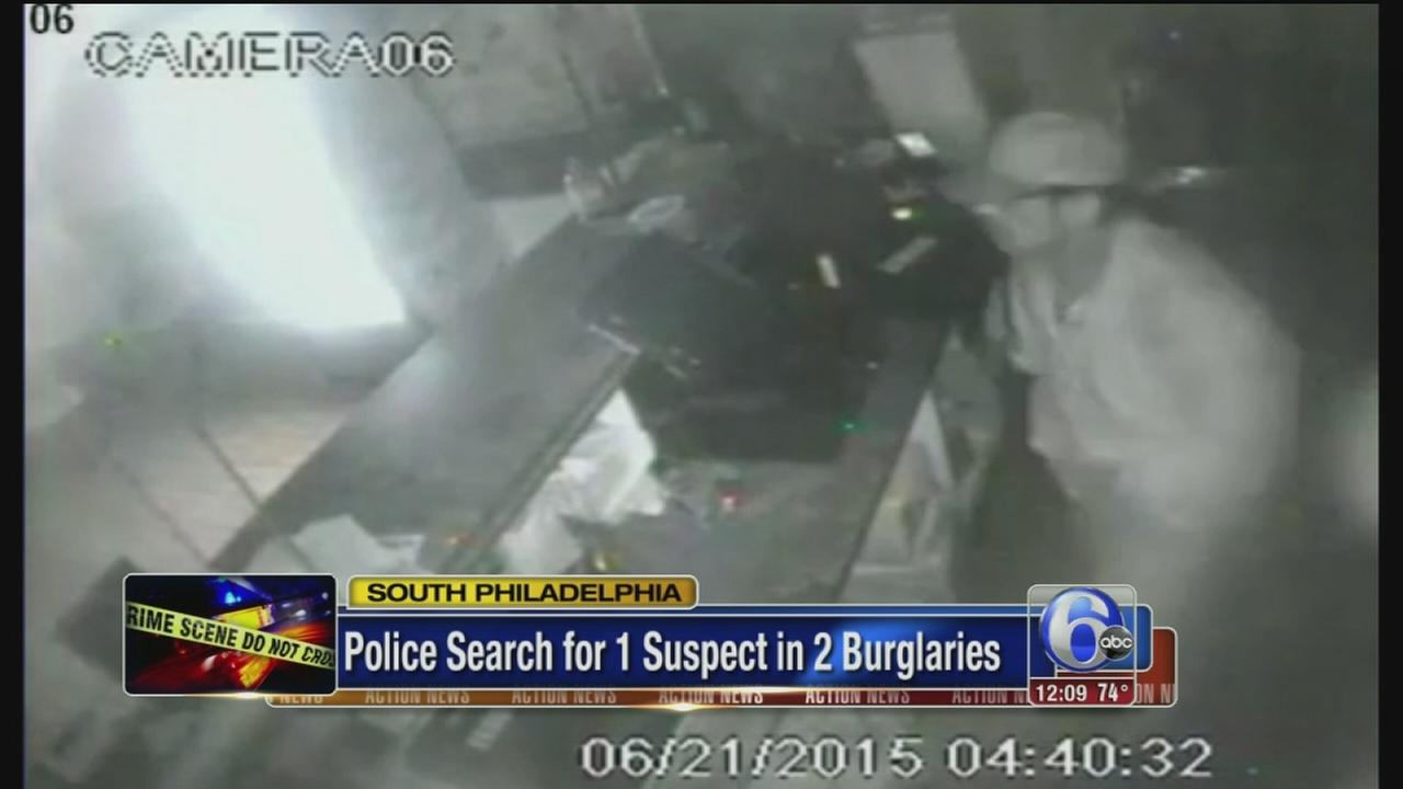 VIDEO: Suspect sought in South Phila. burglaries