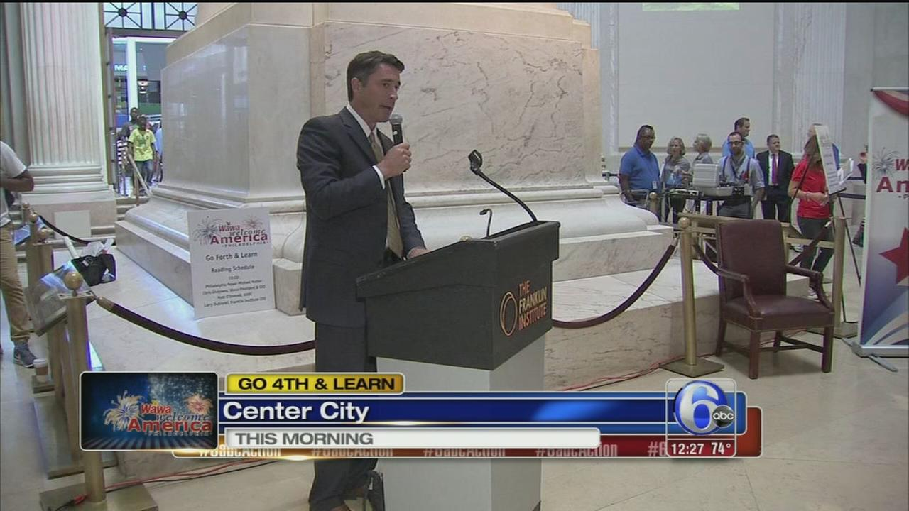 VIDEO: Matt ODonnell reads to children at Franklin Institute