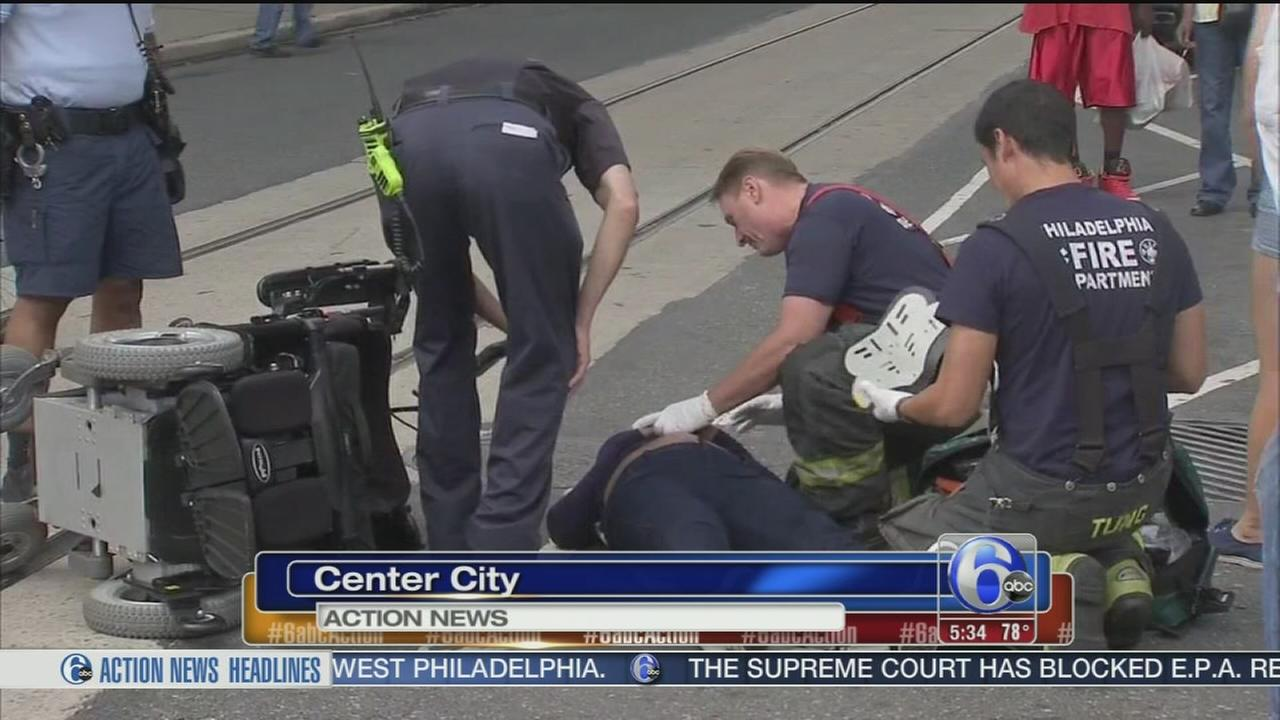 VIDEO: Woman in wheelchair struck by car in Center City