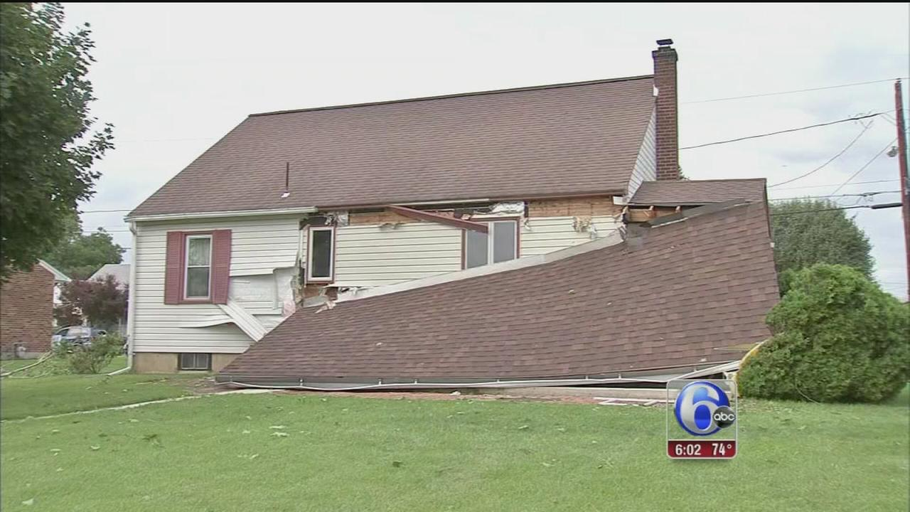VIDEO: Homes damaged by strong storms in Lehigh Valley