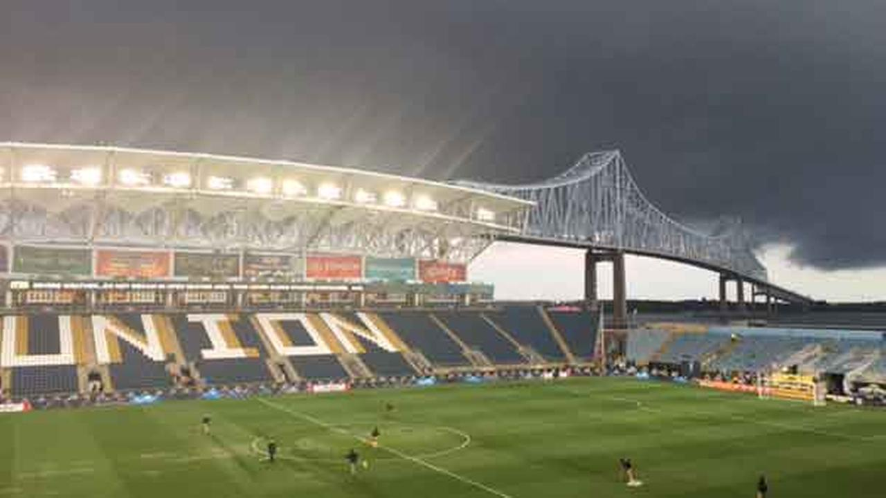 June 30, 2015: Action News viewer Andrew Kittleson sent in this picture of storm clouds at the Philadelphia Union match in Chester, Pa.