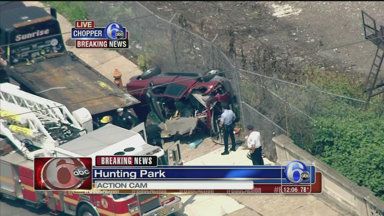 VIDEO: Crash in Hunting Park