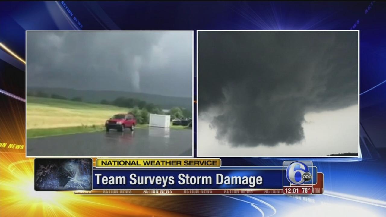 VIDEO: Team surveys storm damage