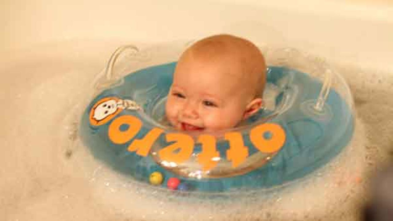 About 3,000 inflatable baby floats are being recalled because they can deflate, posing a risk that a child could drown.