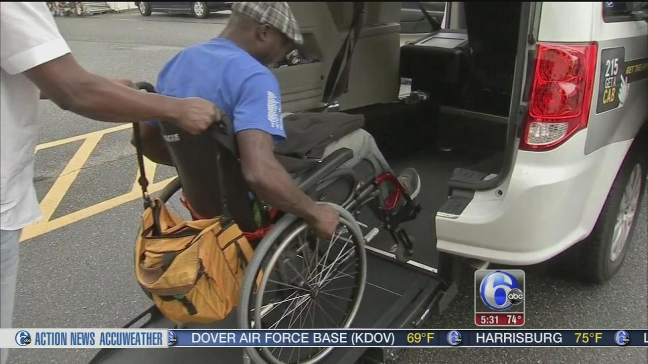 VIDEO: First wheelchair accessible taxis in Philly
