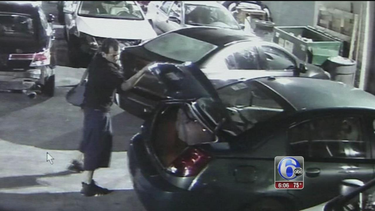 VIDEO: Man caught stealing airbags in Feltonville