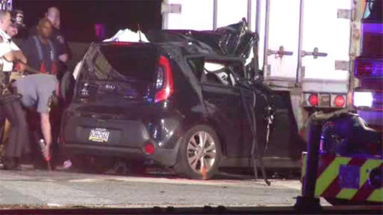 1 dead after vehicle slams into tractor-trailer in Chester