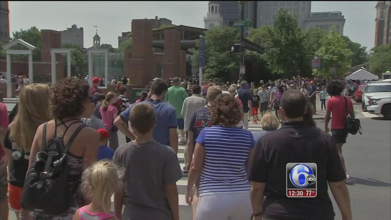 VIDEO: Liberty Block Party, Philly Pops today