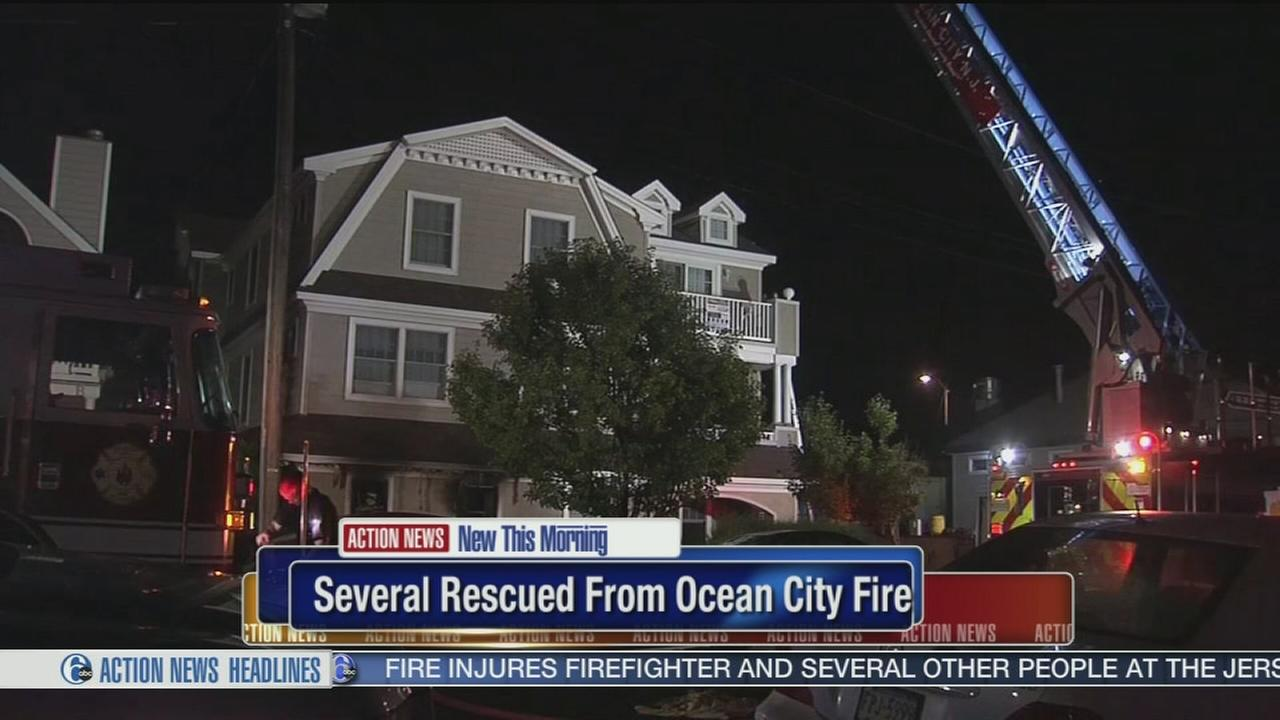 VIDEO: Several rescued from Ocean City fire