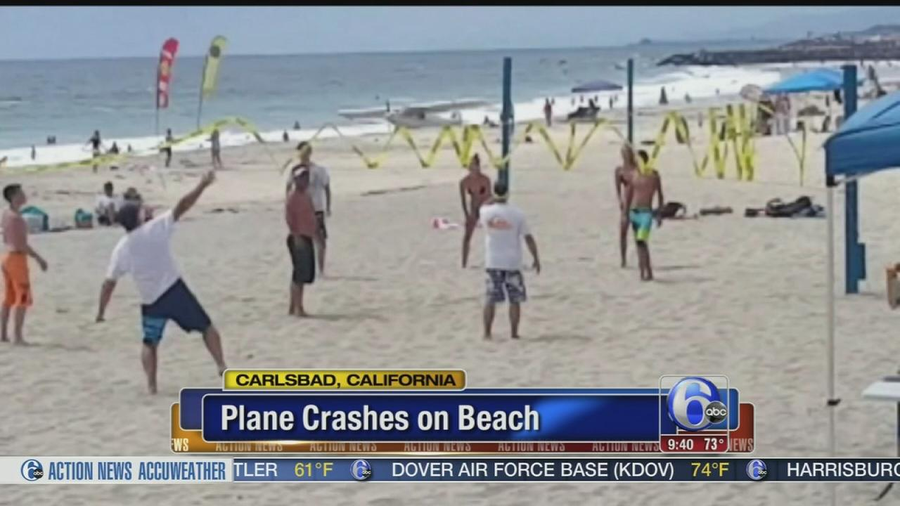 VIDEO: Plane crashes on beach