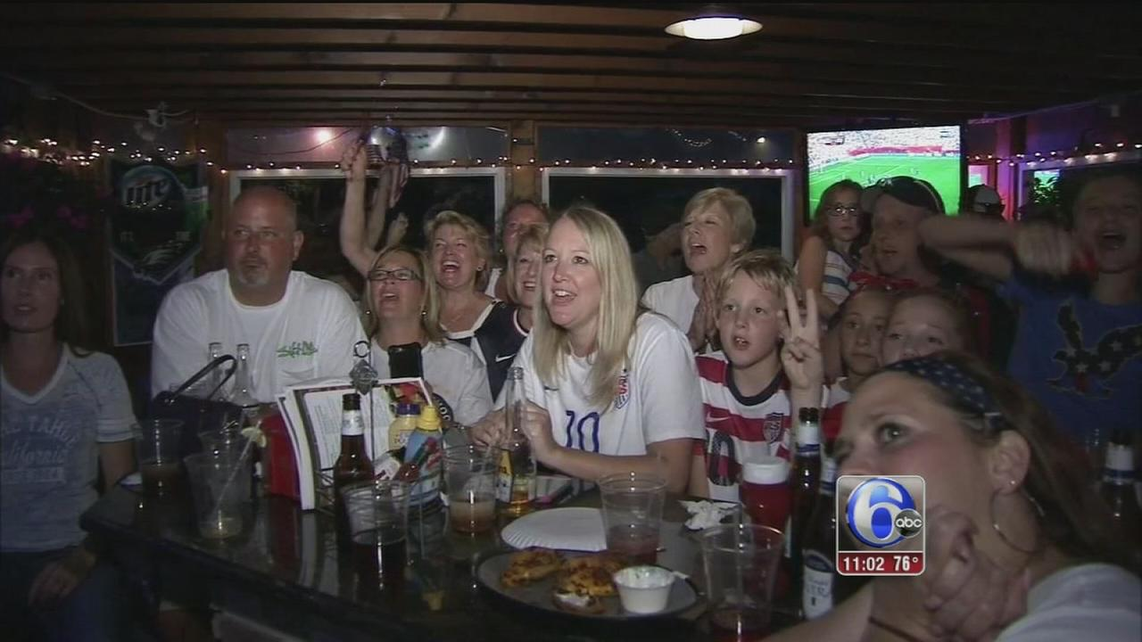 VIDEO: Delran cheers on Carli Lloyd to World Cup victory