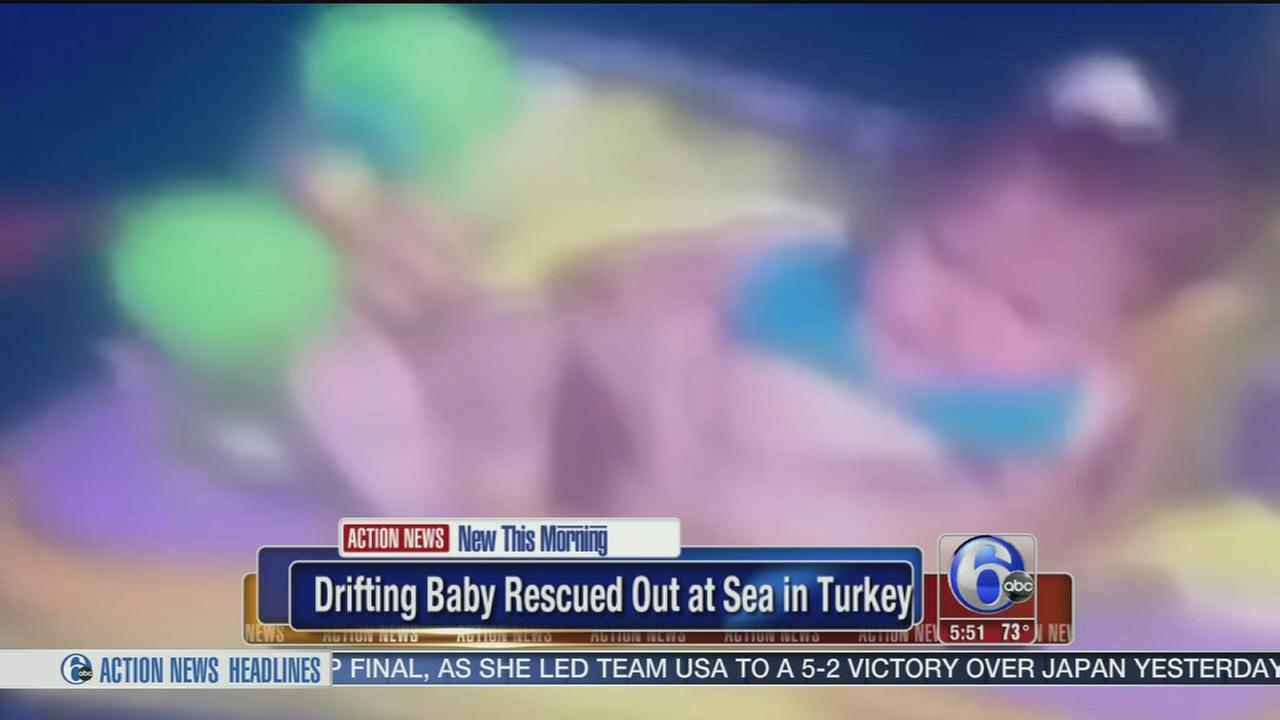 VIDEO: Drifting baby rescued out at sea