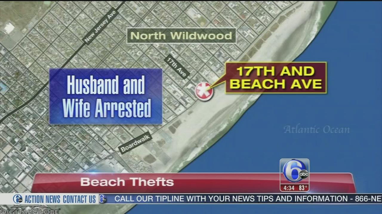 VIDEO: Couple arrested for thefts at beach