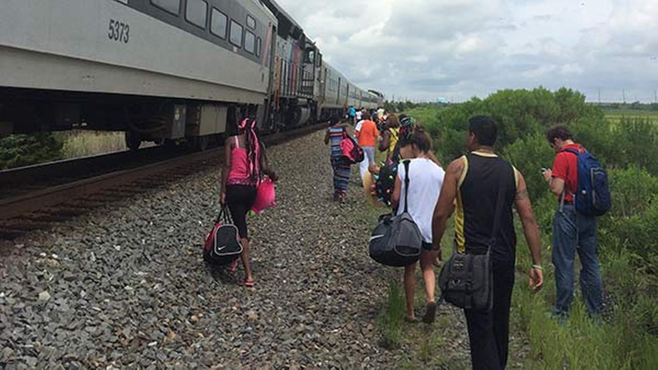 Disabled NJ Transit train stranded outside Atlantic City