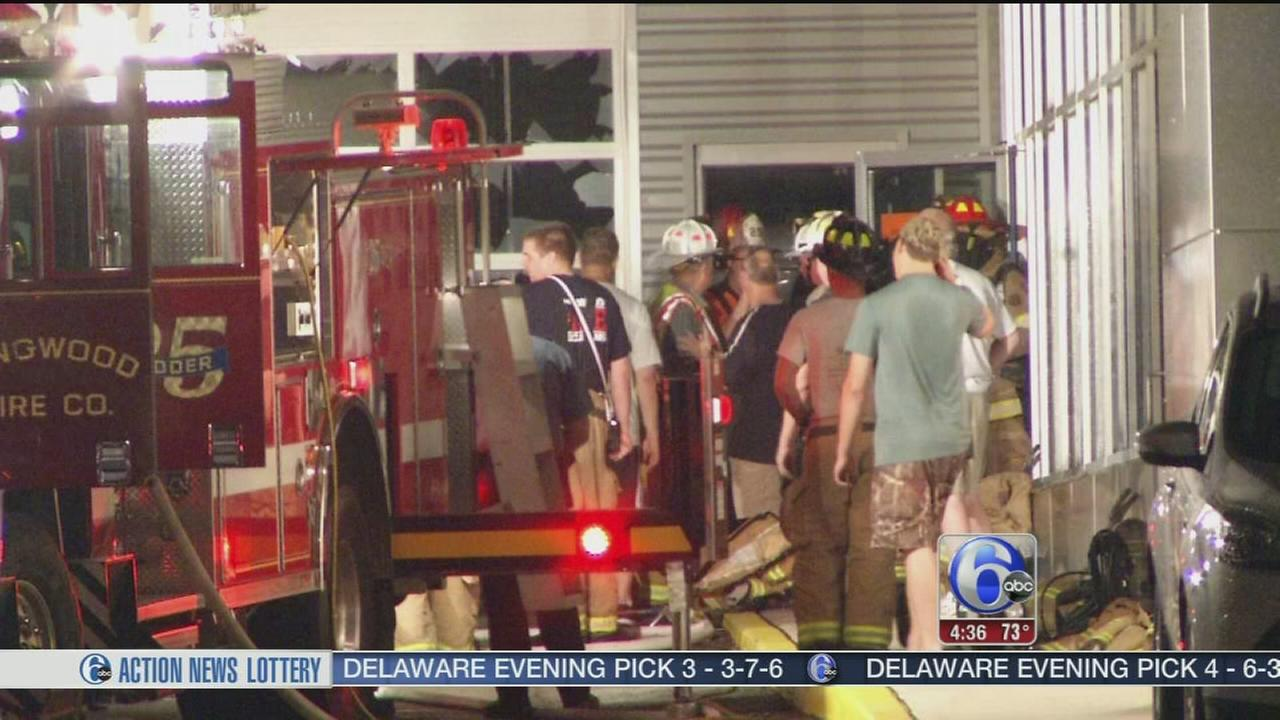 VIDEO: Officials investigate car dealership blaze in Delco