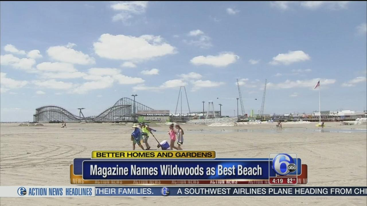 VIDEO: Magazine names Wildwoods as best beach