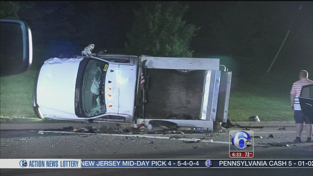 VIDEO: Car and truck collide in Montco, multiple injuries