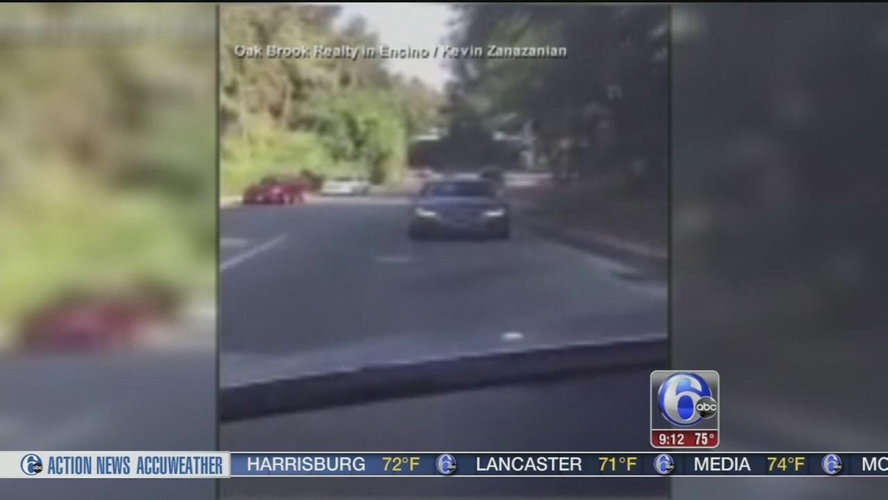 VIDEO: Police seek backwards driver in Ca.