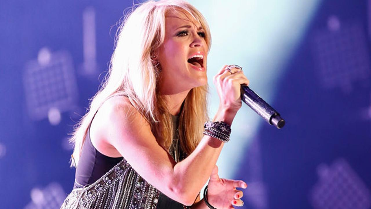 Carrie Underwood performs at LP Field at the CMA Music Festival on Saturday, June 13, 2015, in Nashville, Tenn.