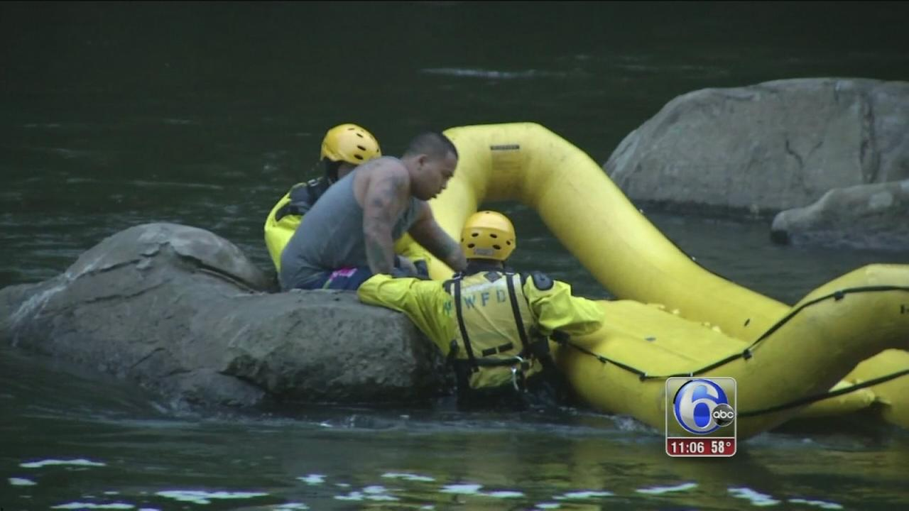 VIDEO: Stranded man rescued from Brandywine River