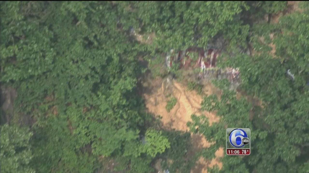 VIDEO: Teen falls from cliff in Bucks County
