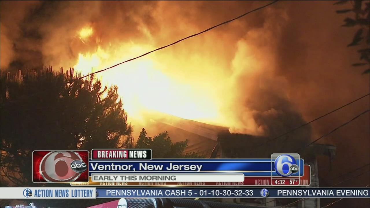 VIDEO: Fire destroys homes in Ventnor
