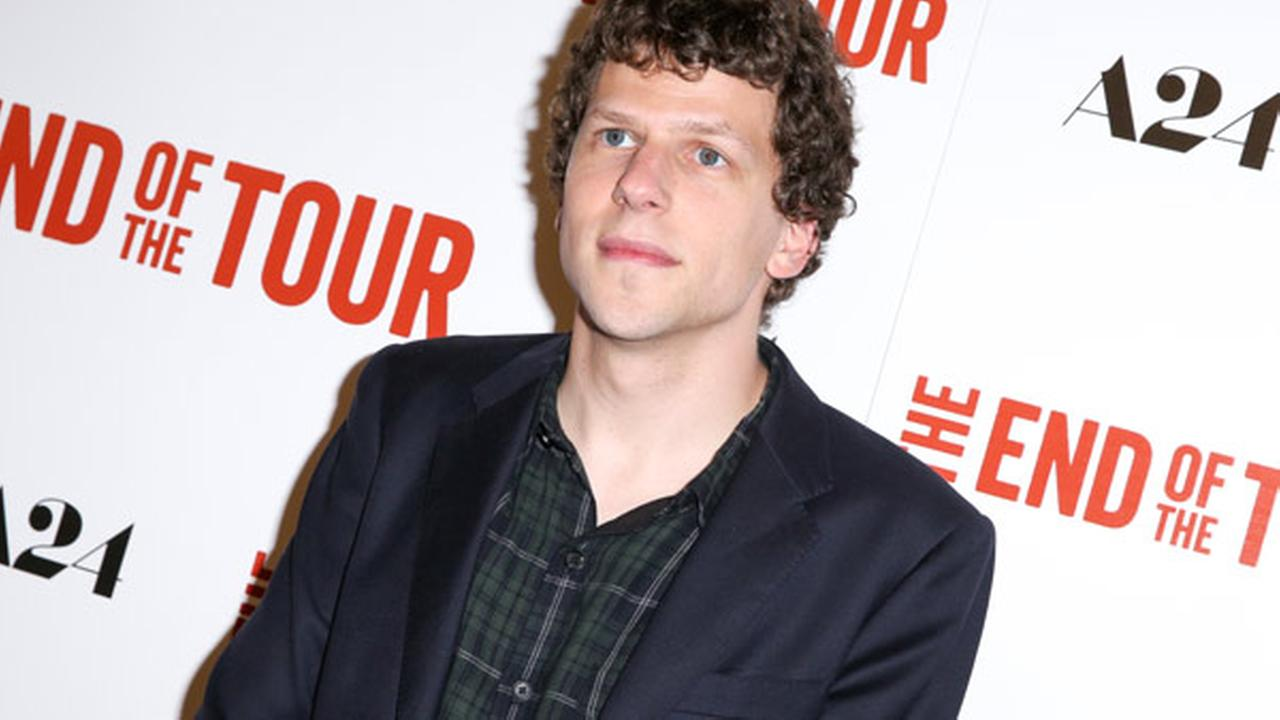 Jesse Eisenberg arrives at the LA Premiere of The End of the Tour at the Writers Guild Theater, on Monday, July 13, 2015, in Beverly Hills, Calif.