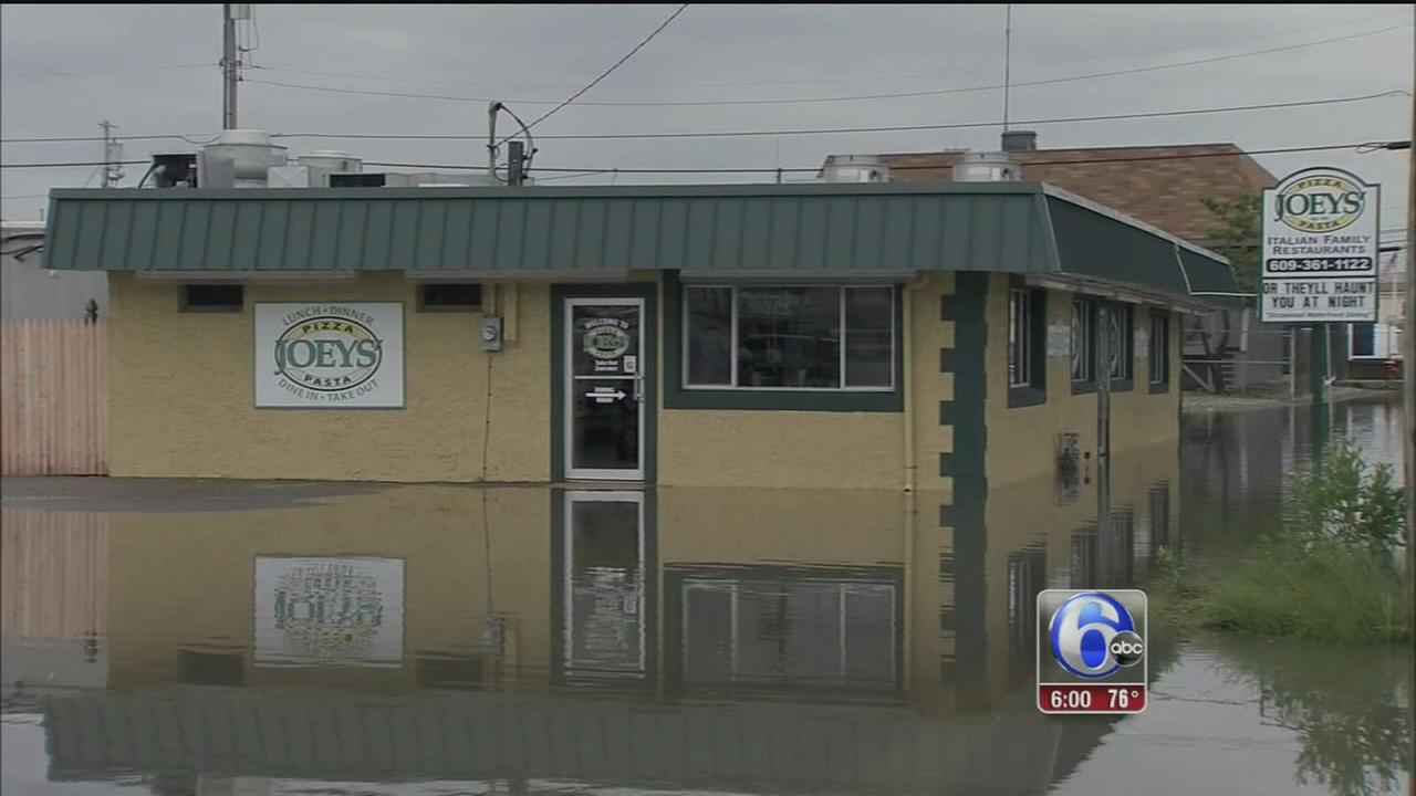 VIDEO: Storms cause flooding at the Jersey Shore