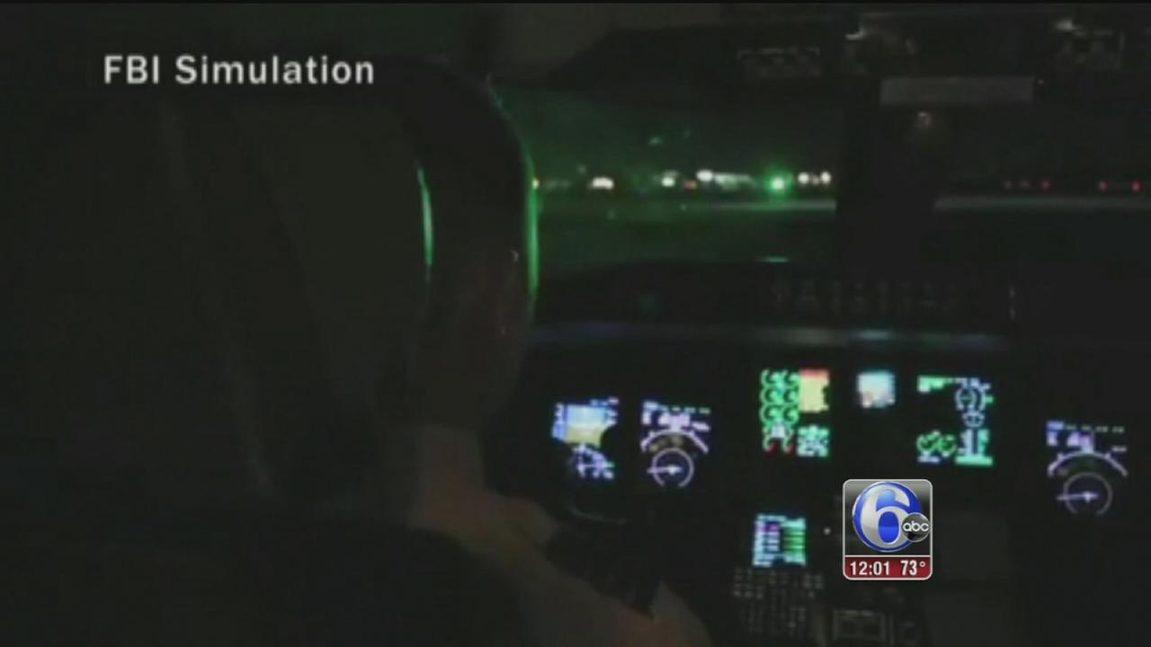 VIDEO: Lasers pointed at planes over NJ