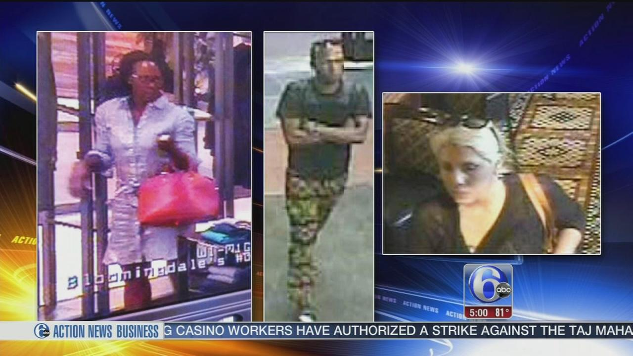 VIDEO: Suburban pickpocket spree