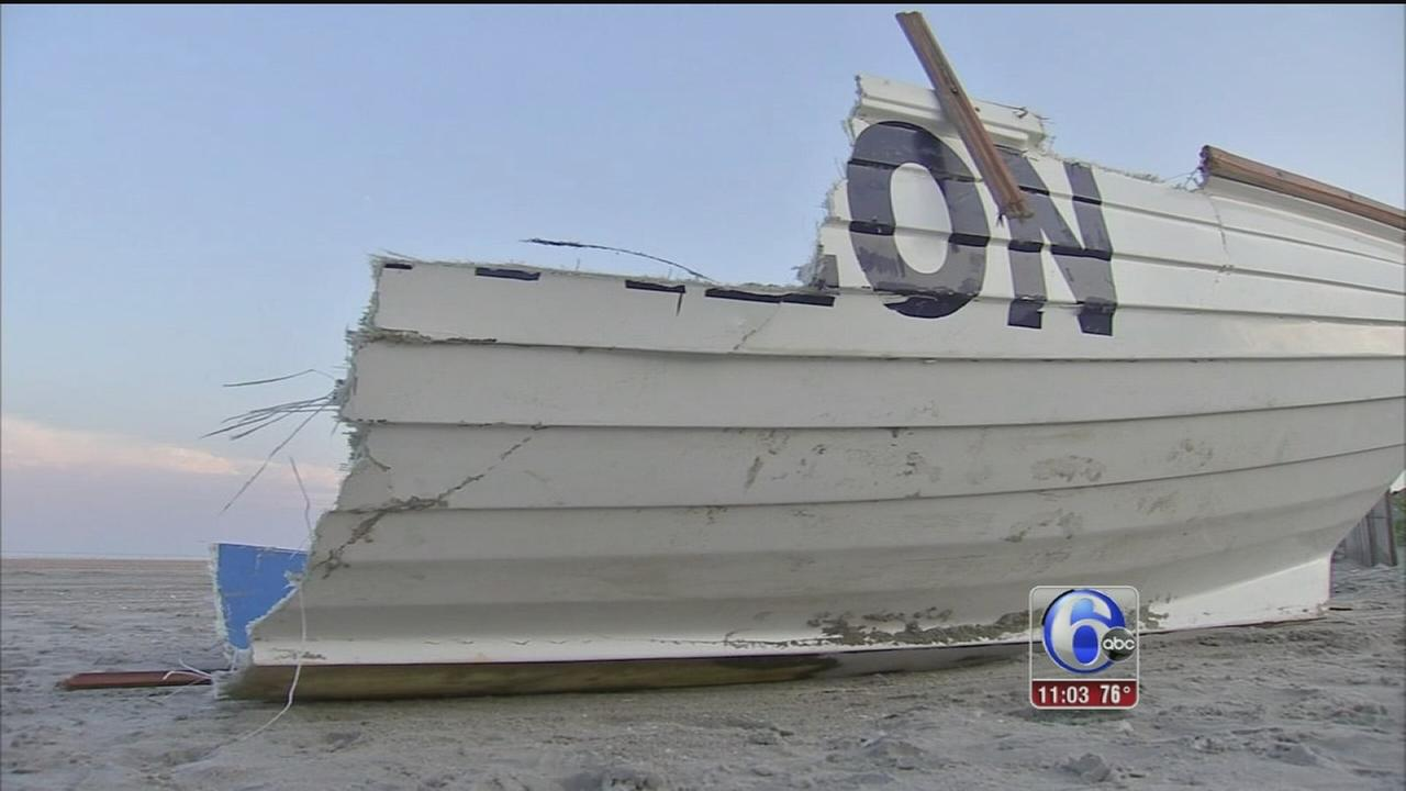 VIDEO: Storm damage at the Jersey Shore