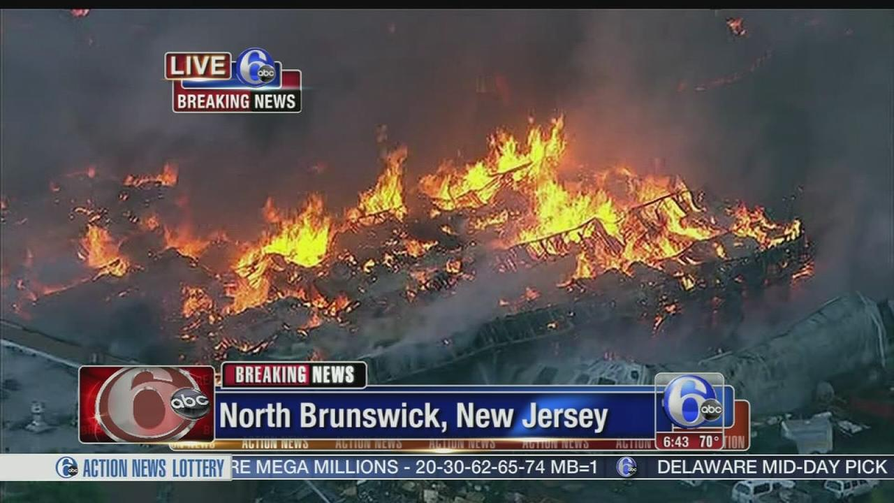VIDEO: Massive warehouse fire in North Jersey